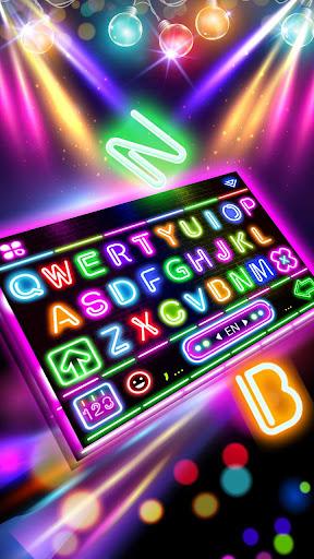 sparkle neon led lights keyboard theme screenshot 1