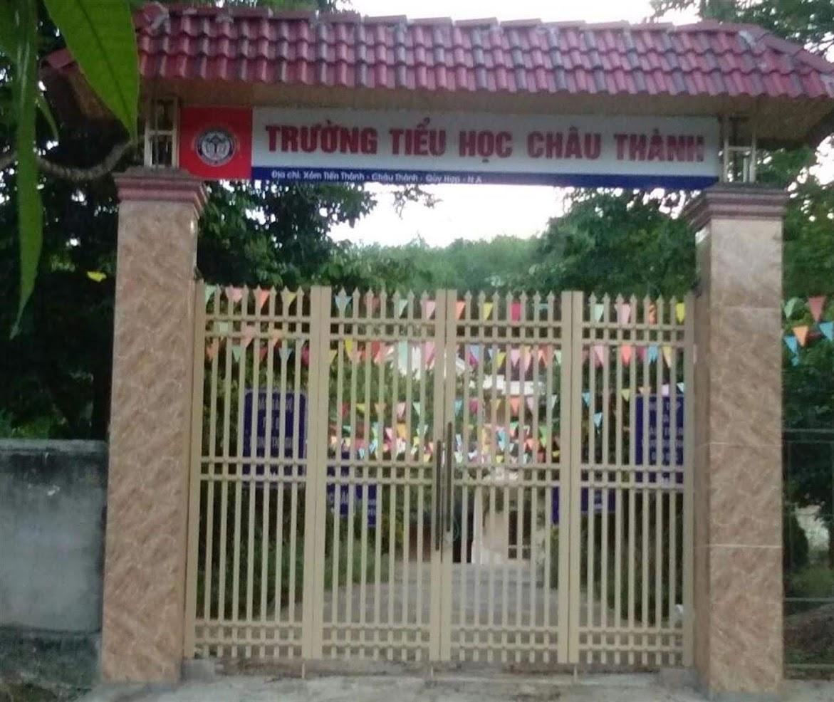 Trường Tiểu học xã Châu Thành, huyện Quỳ Hợp - nơi ông  Võ Xuân Tuyến làm Hiệu trưởng có nhiều sai phạm nghiêm trọng