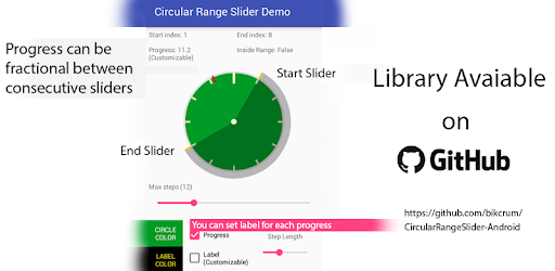 Circular Range Slider Demo - Apps on Google Play