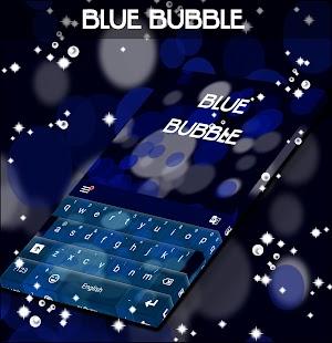Blue Bubble Keyboard Skin for PC-Windows 7,8,10 and Mac apk screenshot 1