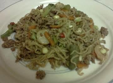 Oriental Beef Noodle Toss