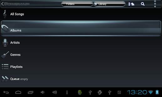 Poweramp skin Black Petrol Screenshot