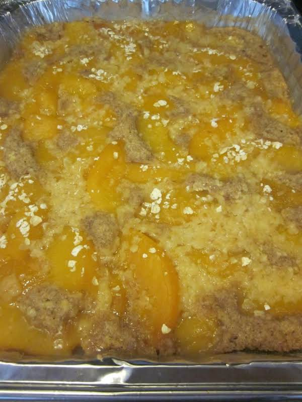 Diabetic-friendly Peach Cobbler