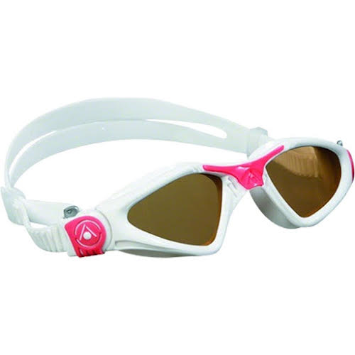 Aqua Sphere Kayenne Lady Goggles: White/Coral with Smoke Lens