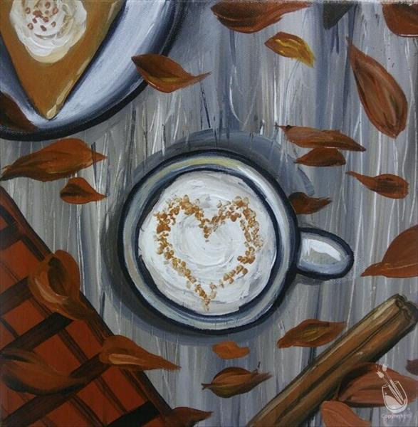 Coffee Painting Pumkin Spice