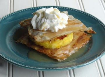 Grilled Pineapple Napoleons With Coconut Caramel Sauce Recipe