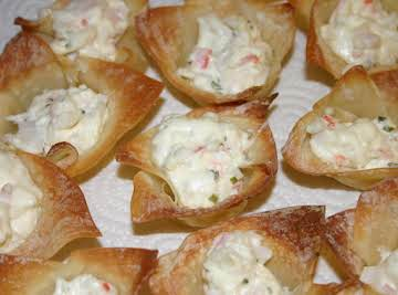Crab and Chive Baked Ragoons