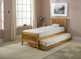 Guest Bed (2 in 1 Space Savers) in a bedroom
