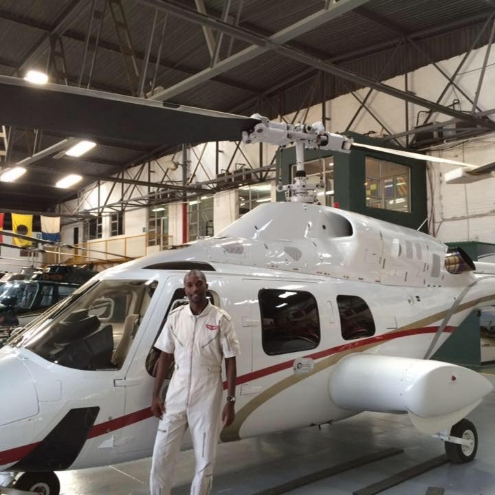 Bahle Zondo, the proud owner of four helicopters.
