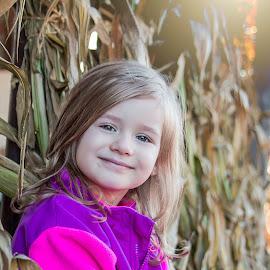 Rozelyn by Jenny Hammer - Babies & Children Child Portraits ( fall, corn, pumpkin patch, girl, cute )