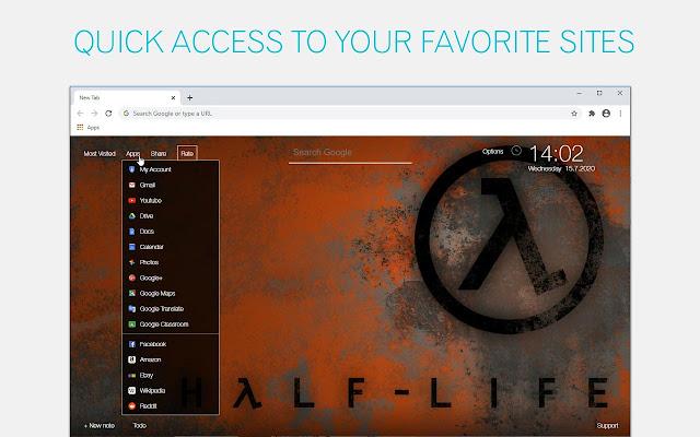 Half Life Alyx Custom New Tab