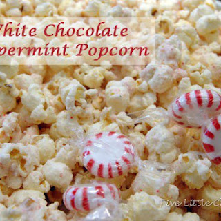 White Chocolate Peppermint Popcorn