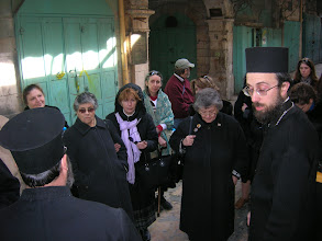 Photo: We are walking the old stone streets to the Church of the Holy Sepulchre. This stone pavement is from the time of Christ.