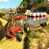 Tractor Driving Transport Simulation