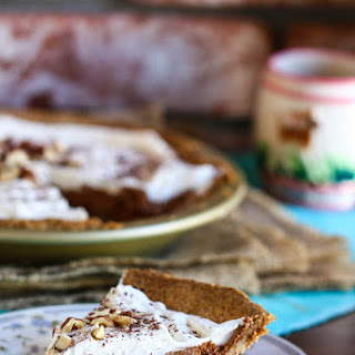 French Silk Chocolate Pie with Hazelnut Crust
