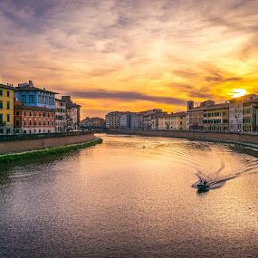 Pisa Italy 1 by Xianwen Xu - City,  Street & Park  Vistas ( 2016, travel, europe, italy, leica )
