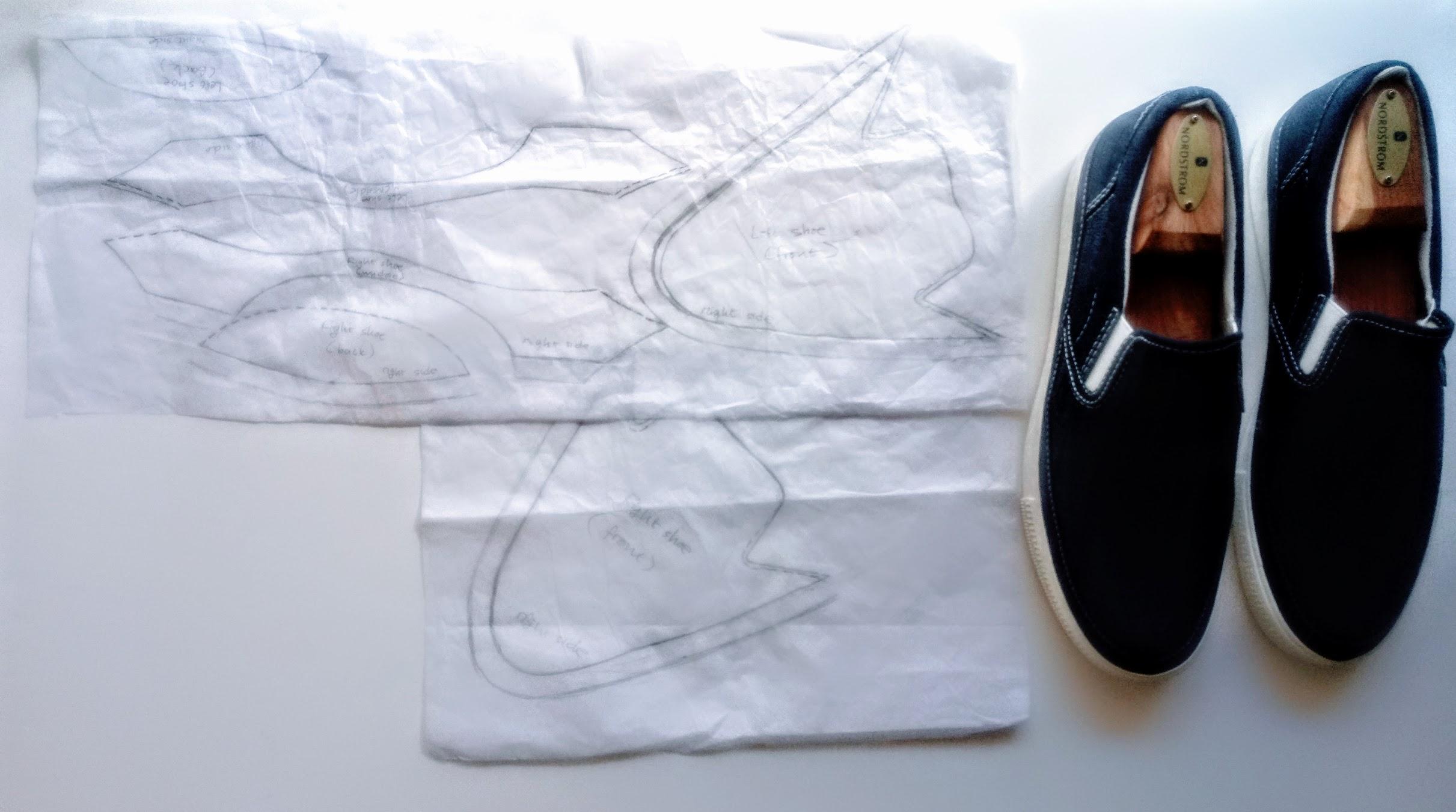 DIY Fabric Collage Shoes - DIY Fashion Accessories | fafafoom.com
