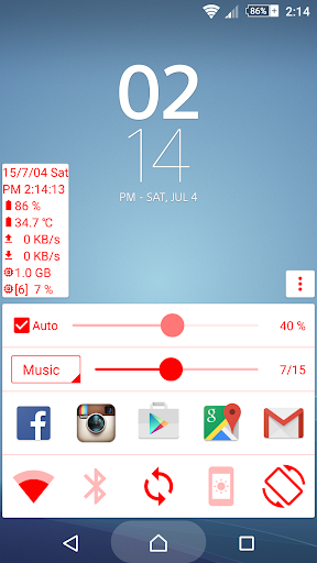 Quick Panel home button