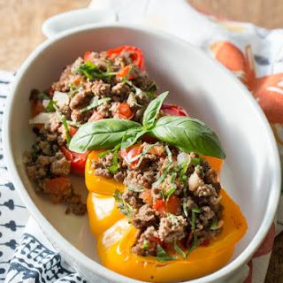 Italian Style Stuffed Paleo Peppers.