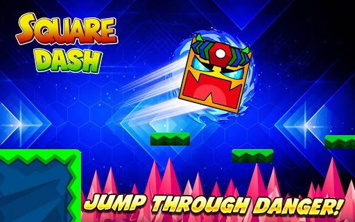 Square Dash: Jump Games, Geometry Word Free 1.0 screenshots 1