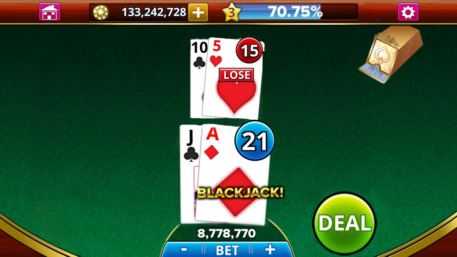 BLACKJACK!- screenshot