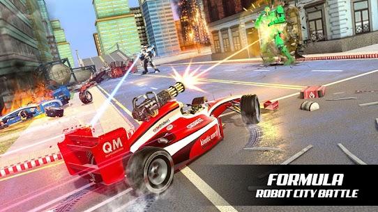 Formula Robot Car Game : Flying Car Robot Games 4