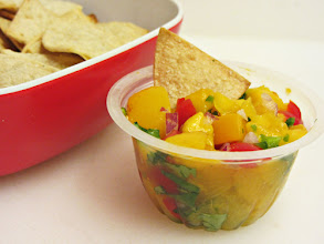 Photo: Here's a peek at my Fruit Cup Salsa...it turned out so delicious! You can see how I made it, plus get to meet our family pets, on my blog at http://www.homecookingmemories.com