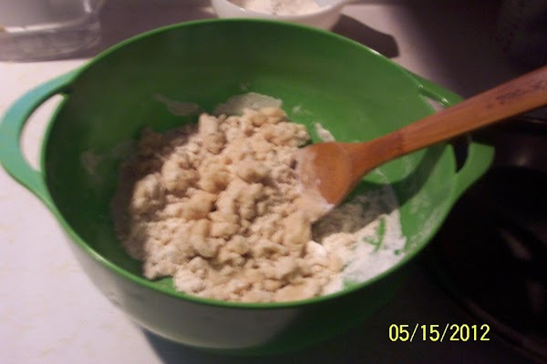 To prepare topping: Mix butter, sugar and flour with a pastry blender, or your hands...