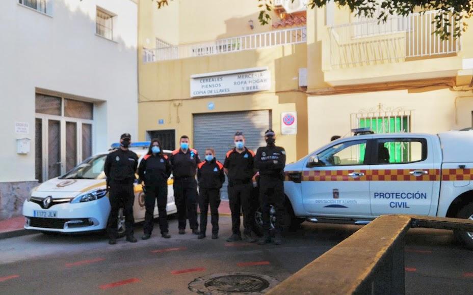 Protección Civil de la Diputación, Policía Local y Protección Civil de Viator reforzaron la seguirdad.