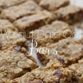 Walnut Date Oat Bars