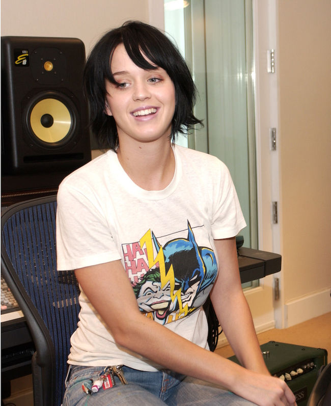 Katy Hudson AKA Katy Perry 2002 Recording Studio - Photo Session
