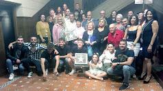 Foto de familia de los Fernández, tras la colocación de la estrella en la Casa del Cine.