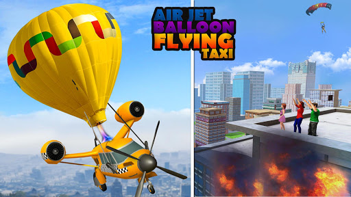 Flying Taxi Simulator: Air Balloon Taxi Driving 3D 1.0.3 screenshots 8