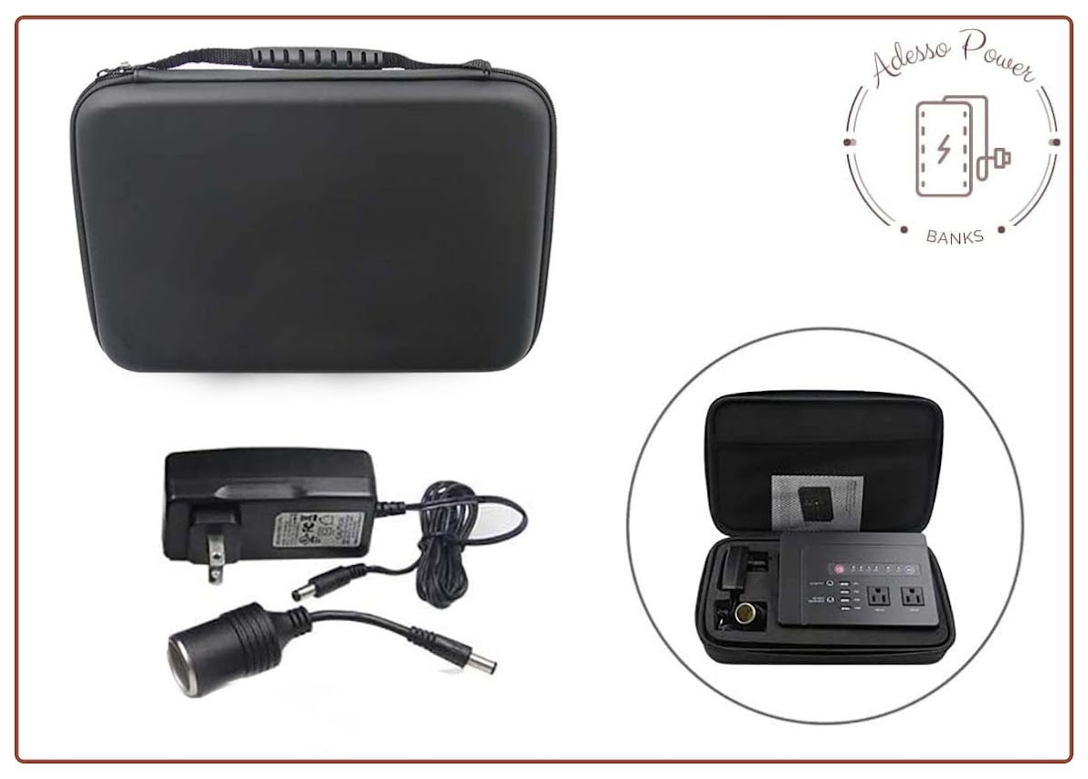 200W Portable Power Bank with AC Outlet for Camping 42000mAh