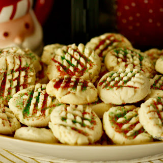 Easy Whipped Shortbread Cookies.