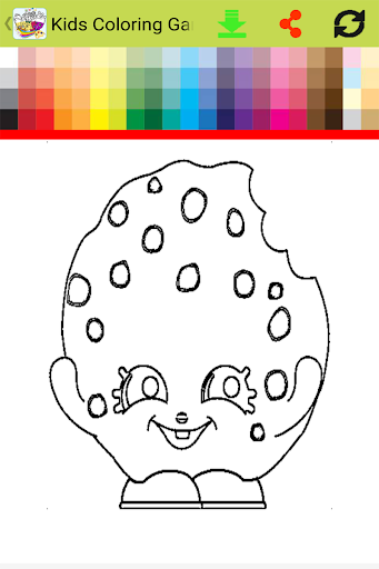 Kids Coloring Game For Shopkin