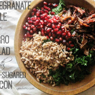 Pomegranate, Kale and Farro Salad with Spicy-Sugared Bacon (5 Great Recipes)