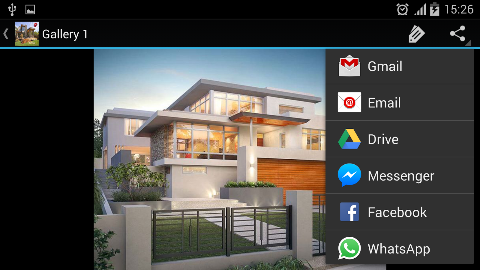 Modern house designs screenshot