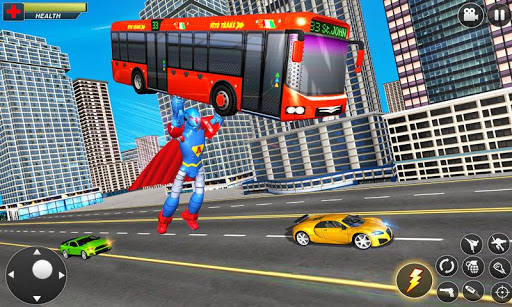 Flying Hero Robot Transform Car: Robot Games modavailable screenshots 4