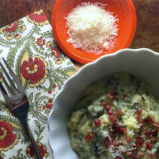 Slow-Cooker Polenta with Spinach, Parmesan, and Pancetta