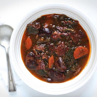 Spanish Chorizo, Kale and Cranberry Bean Soup