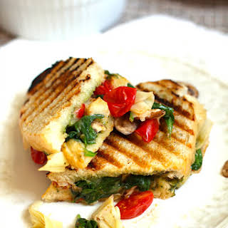 Roasted Vegetable Pesto Panini.