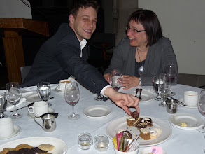 Photo: Day 1 - Jason Perry and Mara Teitelbaum enjoying dinner