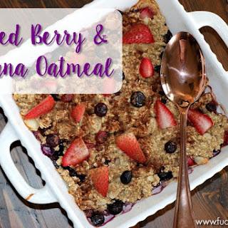 Baked Berry & Banana Oatmeal