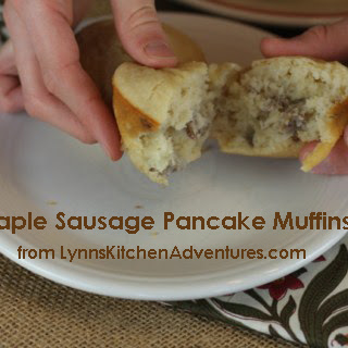 Maple Sausage Pancake Muffins.