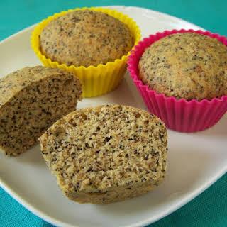 Vegan Low Carb Muffins, Lemon Poppyseed Flavor!.