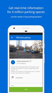 Parking with parking app ParkU screenshot