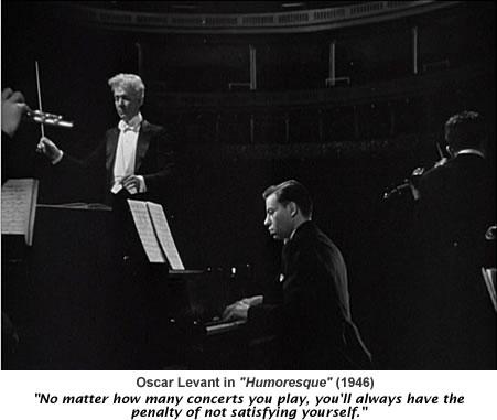 Oscar Levant in Humoresque.