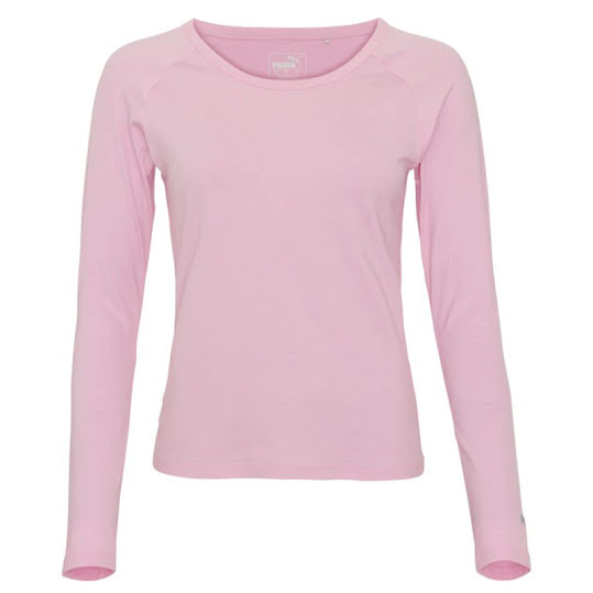 Puma Womens Long Sleeve Sun Crew Golf Shirt, Pale Pink