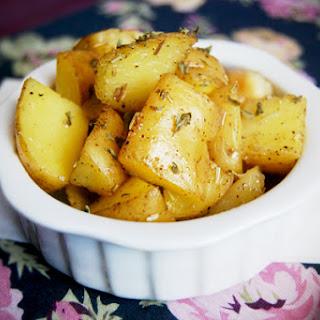 Oven- Baked Rosemary-Garlic Potatoes.